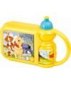 Winnie gele lunchbox met beker
