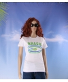 Wit dames t shirt brazilie