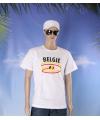 Wit heren t shirt belgie