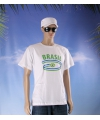 Wit heren t shirt brazilie