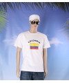 Wit heren t shirt colombia