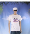 Wit heren t shirt usa