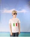 Wit kinder t shirt italie