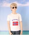 Wit kinder t shirt noorwegen