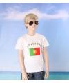 Wit kinder t shirt portugal