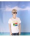 Wit kinder t shirt zuid afrika