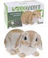 Wit konijn stenen beeld 28 cm