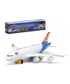 Wit speelgoed vliegtuig met licht en geluid