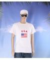 Wit t shirt amerika volwassenen
