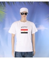 Wit t shirt egypte volwassenen