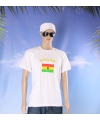 Wit t shirt ghana volwassenen