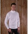 Wit t shirt met col en lange mouw heren