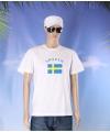 Wit t shirt zweden volwassenen