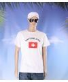 Wit t shirt zwitserland volwassenen