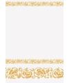 Wit tafelkleed met gouden rozen