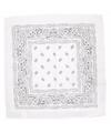 Witte bandana zakdoek 55 x 55 cm