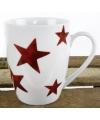 Witte beker met rode sterren