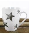 Witte beker met zilveren sterren