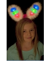 Witte bunny oren met gekleurd led licht