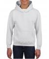 Witte capuchon sweater voor jongens