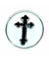 Witte chunk met zwart kruis 1 8 cm