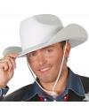 Witte cowboyhoed voor volwassenen