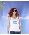 Witte dames tanktop griekenland