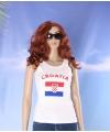 Witte dames tanktop kroatie