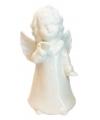 Witte engel van porselein 18 cm