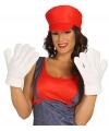 Witte grote handschoenen voor volwassenen