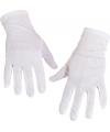 Witte handschoenen kort voor volwassenen