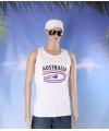 Witte heren tanktop australie