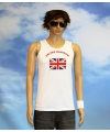 Witte heren tanktop united kingdom