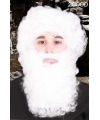Witte kabouter baard met snor