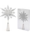 Witte kerstboom piek sneeuwvlok