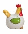 Witte kippen deco beeldje 8 cm