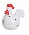 Witte kippen deco beeldje 9 cm