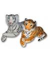 Witte knuffel tijger 70 cm