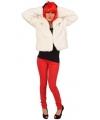 Witte korte bontjas voor dames