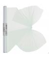 Witte organza stof op rol 40 x 200 cm