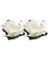 Witte papieren bloemetjes 1 5 cm