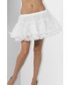 Witte petticoat met satijnen band