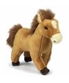 Wnf pluche bruine paarden knuffel 23 cm