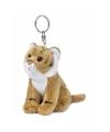 Wnf pluche bruine tijger sleutelhanger 10 cm