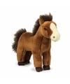 Wnf pluche donkerbruine paarden knuffel 23 cm