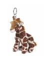 Wnf pluche giraffen sleutelhanger 10 cm