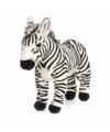 Wnf pluche staande zebra knuffel 30 cm