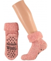 Wollen huis sokken voor dames roze
