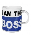 Xl koffiebeker i am the boss 700 ml