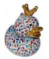 Xl spaarpot eend met kroontje type 2 28 cm